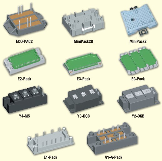 Корпуса IGBT модулей производства компании IXYS