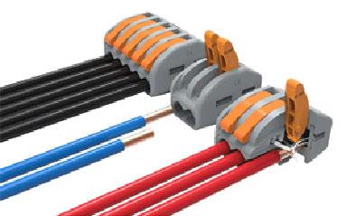 Клемники для швидкого з'єднання проводів серії - DG223-4.61