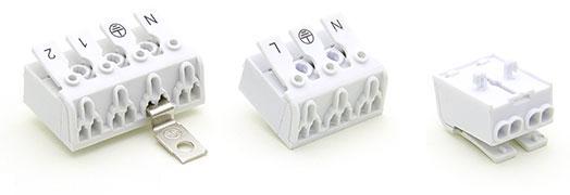 Електромонтажні сполучні клемні колодки для монтажу освітлення