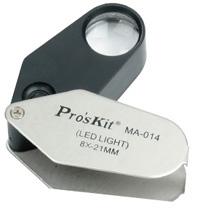 Лупа с подсветкой Pro'sKit MA-014