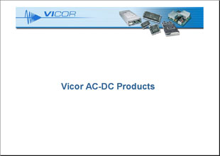 Презентация Vicor AC-AC Products