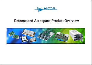 Презентация Vicor Defence And Aerospace Products