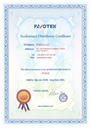 Certificate Favotek