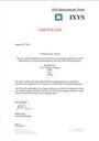 Certificate Ixys