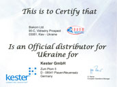 Certificate Kester